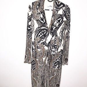 Joseph RIbkoff Paisley Faux Wrap Dress Size 8